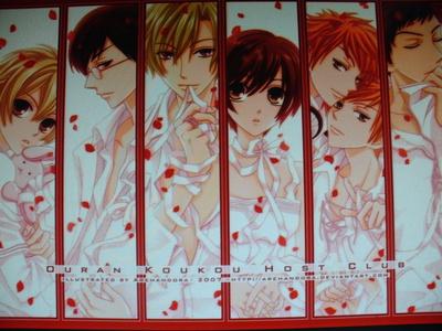 1.Sebastian (Black Butler) 2. Ichigo (Bleach) 3. Mori (OHSHC) 4. Tamaki (OHSHC) 5. Kaname (Vampire Knight) 6. Kyoya (OHSHC) 7. Senri (Vampire Knight) 8. Takuma (Vampire Knight) 9. Akatsuki (Vampire Knight) 10.Honey (OHSHC)