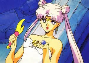 Serenity from Sailor Moon.