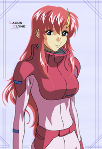 Lacus Clyne from Gundam Seed. No complaining.