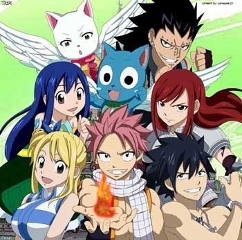 Fairy Tail is the best!!! Du can somehow get addicted to it.