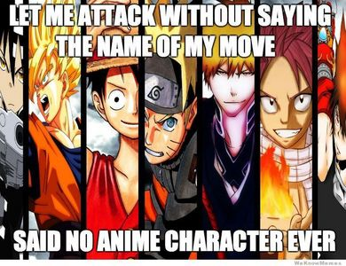I love all of these anime but this picture was so funny :)