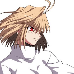 Arcueid from Tsukihime, courtesy of her half-sister following a lost fight. I'm not joking, her hair was cut سے طرف کی her half-sister.