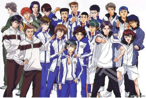Prince of Tennis...it has a little comedy and action shounen of tennis...