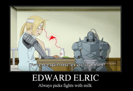 Edward is pretty small (^3^) Just don't say it to his face O___O >>>>>>>ED vs MILK<<<<<<<<< FIGHT!!!!!!!!