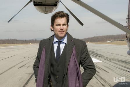 "Matt wearing a scarf in a still from ""On Guard"" <3333"