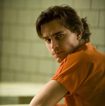 Matt with longer hair in a still from the White kwelyo pilot, watching Peter leave <3333
