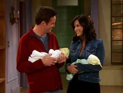 When she has twins with Chandler. Seeing that smile on her face was the best moment to me.