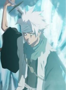 """Toshiro Hitsugaya (Bleach) hiyori called little shiro """"Shorty"""".........he he eh eh"""