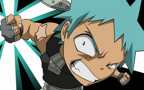 """I loooove it when Kyo say """"dammit"""" all the time, and I really like maka's """"maka chop!"""" and shigure's """"highschool girls!"""" and crona's """"i can't deal with it"""" too, but the best one EVER is black☆star """"Y A H O O !"""" Lol it is soooooo funny!!!!!"""