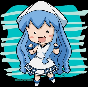 Squid girl because she's too damn cute to anger atau mess with, it'd be a crime!