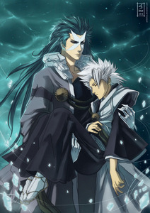 Toshirou Hitsugaya and Hyourinmaru (Bleach)