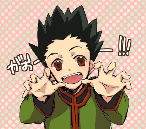Hm I think Gon's hair qualifies as spikes...