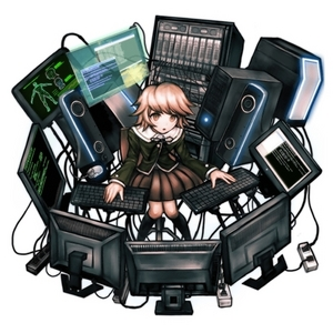 Chihiro from Dangan Ronpa is a computer progammer