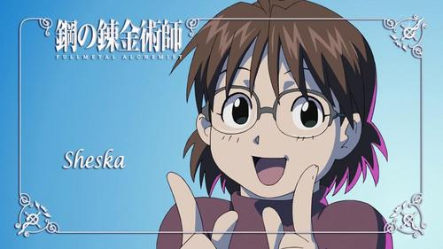 I think Sheska from Fullmetal Alchemist is kind of a nerd.