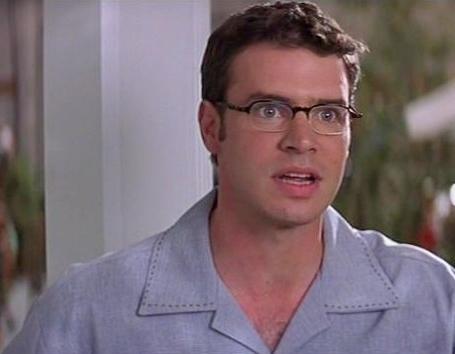 Scott Foley from Scream 3, wearing glasses. :)