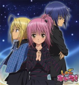 Shugo Chara has a amor triangle. It's really interesting. I guess.
