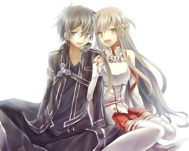 Kirito and Asuna from Sword Art Online