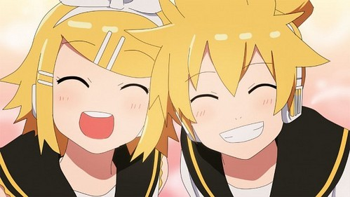 """Well, I woudn't say they """"fight"""" together but Rin and Len do pretty much EVERYTHING together"""