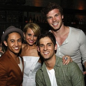 """Derek Theler and his """"Baby Daddy"""" co-stars"""