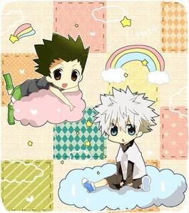 Chibi Gon and Killua! cuteee~