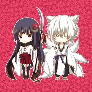 Ririchiyo and Miketsukami from Inu x Boku SS
