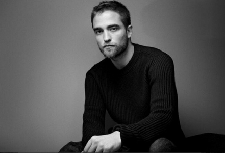 HRH(His Rob Hotness) with a grey background<3