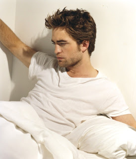 my gorgeous Robert Hottinson with beautiful brown hair<3
