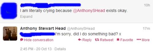 Tony's tweeting XD