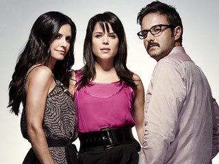 David Aquette with Neve Cambell & Courteney Cox :)