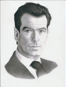 Excellent drawing of Pierce Brosnan