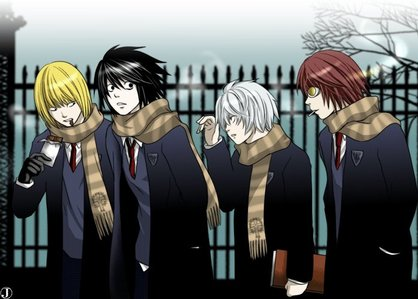 Death Note;all of the people from Wammy's House: L, Mello, Near, and Matt. :)