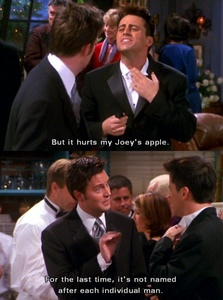 lol Chandler and Joey are two of the funniest tv characters ever!