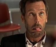 Hugh Laurie making a really funny face :D