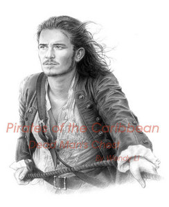 Orlando Bloom as Will In Pirates Off the Carebian