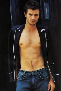 Jamie Dornan in blue jeans<3