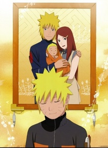 naruto (So sad when his parents died :´( They were awesome).