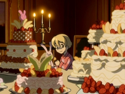 Honey from Ouran High School Host Club (On his special cake night)