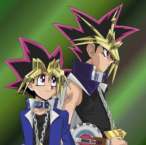 Yugi and Yami. Spikey enough?