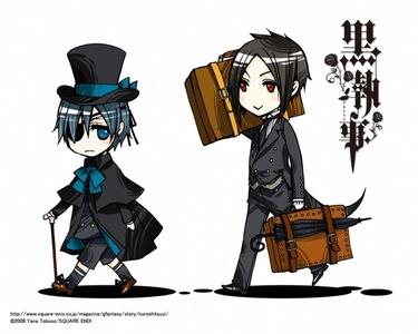 Chibi Ciel (and Sebastian ;D)
