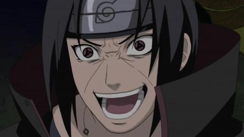 Itachi Uchiha (Naruto Shippuden) itachi's creepiest laugh.............heh eh ehe