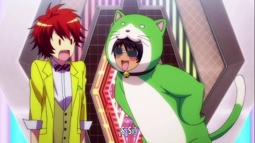 Cecil in a cat costume from Uta-prince sama!
