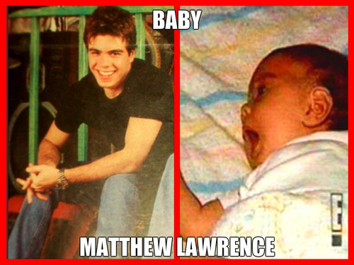 2 pics, Matthew from BMW and when he was a baby. <333333