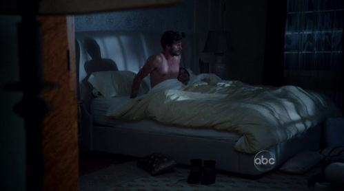 Jamie Dornan in Once Upon A Time.It's too dark and he's far away<3
