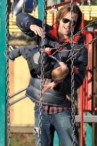 Jared Padalecki & his daughter having fun at the park