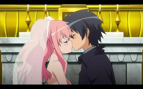Louise and Saito ( Zero no Tsukaima )