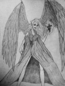 That reminds me!!!! Here's my angel/demon drawing I forgot to send to you a while back. XP I feel so stupid for forgetting!