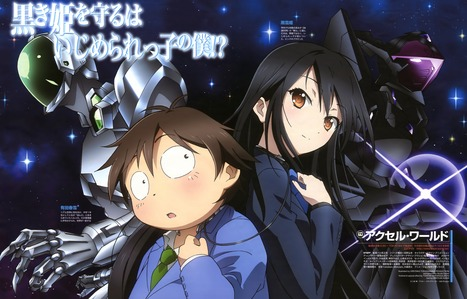 These anime were released in 2010 and beyond 1. Accel World (pic) 2. WataMote 3. Problem Children are Coming from Another World, aren't they? 4. Corpse Party: Tortured Souls 5. Daily Lives of High School Boys 6. High School DxD 7. ángel Beats! 8. Kaichou wa Maid-sama! 9. Black★Rock Shooter 10. Tsuritama 11. Jormungand 12. Deadman Wonderland 13. GJ-bu 14. Mirai Nikki 15. Uta no Prince-sama