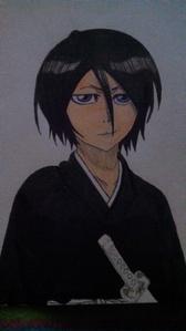 Rukia Kuchiki from BLEACH I still have yet to color in her zanpakuto, but yep.