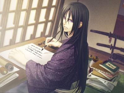 Hijikata Toshizo - hakuouki I absolutely amor long dark hair on men
