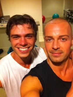 Matthew taking a selfe with Joey <333333